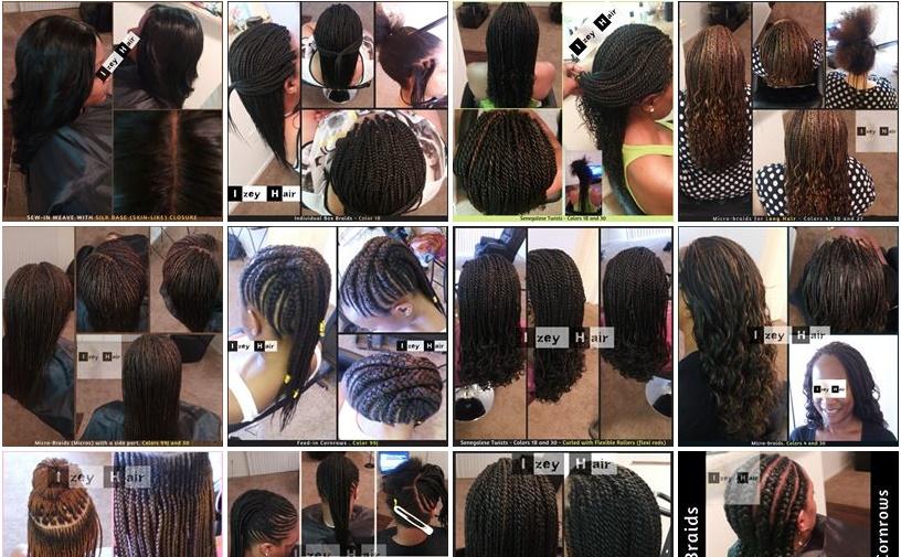 Izey Hair Braiding Photos