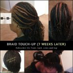 Braid touch up - 7 weeks later. Izey Hair