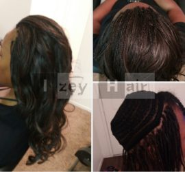 Part Weave and Part Micro-Braids with Brazilian Body Wave Las Vegas Nevada