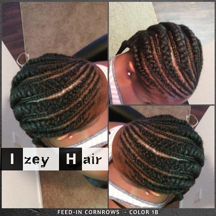 Feedin Cornrows - Color 1B - Izey Hair