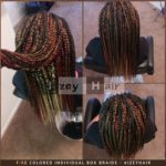 Fire Colored Individual Box Braids - Izey Hair