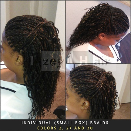 Individual Small Box Braids Colors 2 27 And 30 Izey