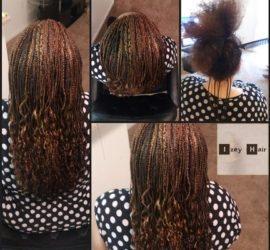 Microbraids for Long Hair - Colors 4, 30 and 27 - Izey Hair