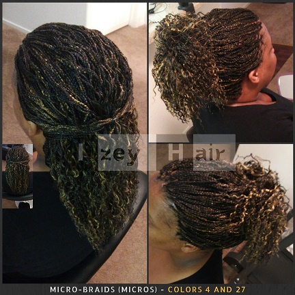 Micros Microbraids - Braiding Hair Colors 4 and 27 - Izey Hair