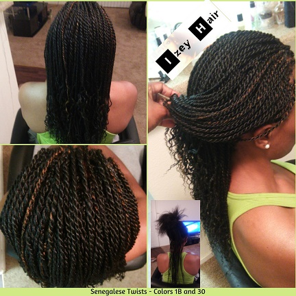 Senegalese Twists - Colors 1B and 30