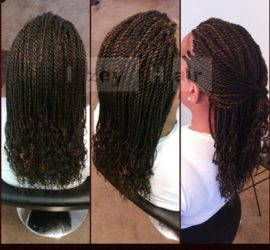 Senegalese twists - Color 1B and 30
