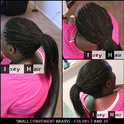 Small Convenient Braids - Colors 2 and 30