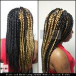 Long Jumbo (Poetic Justice) Braids - Black (color 1B) and Blond (color 27)