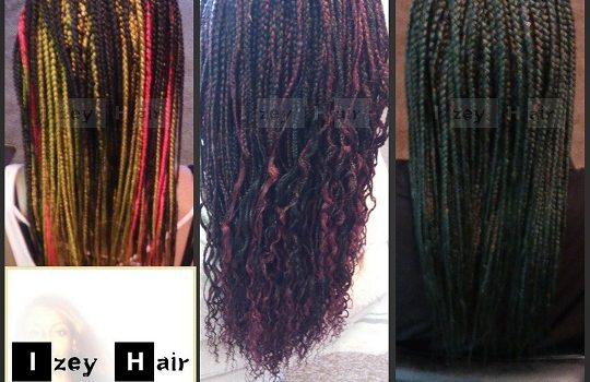 Colorful Individual (Box) Braids - Izey Hair - Las Vegas, Nevada