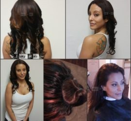 Full Sew-in Weave with Partially Dyed Brazilian Body Wave Hair (16- 20- 20-)