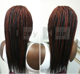 Individual Braids - Colors 1B (off-black) and 350 (copper red)