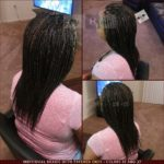 Individual Braids with Tapered Ends - Black (color 1B) with Blond Highlights (color 27)