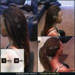 Mid-back length Senegalese Twist with curled ends - Colors 1B and 30