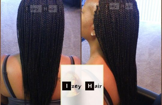 Small Senegalese Twists - Colors 99J (Dark Auburn) and 1B (Off-black)