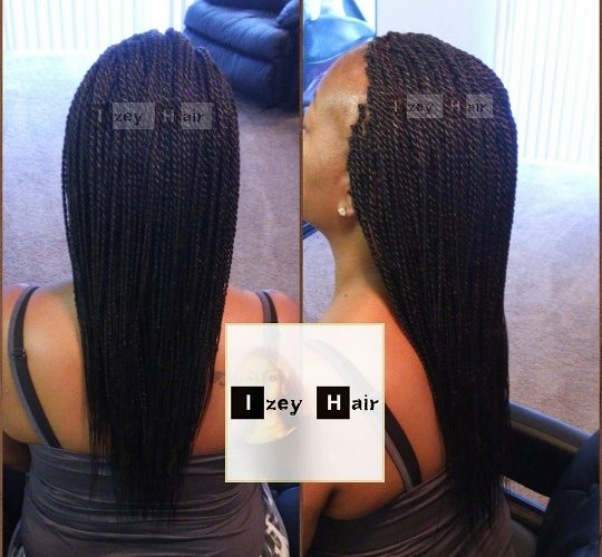 Small Senegalese Twists - Colors 99J (Dark Auburn) and 1B (Off-black)