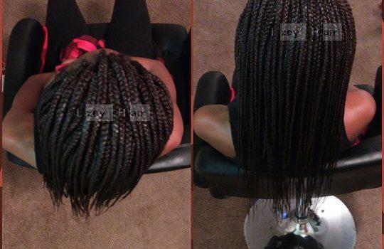 Individual Box Braids - Colors 99J and 4 - Izey Hair - Las Vegas, NV