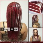 Food Inspired Hair Styles - Red Velvet Cake Individual Box Braids - Izey Hair - Las Vegas