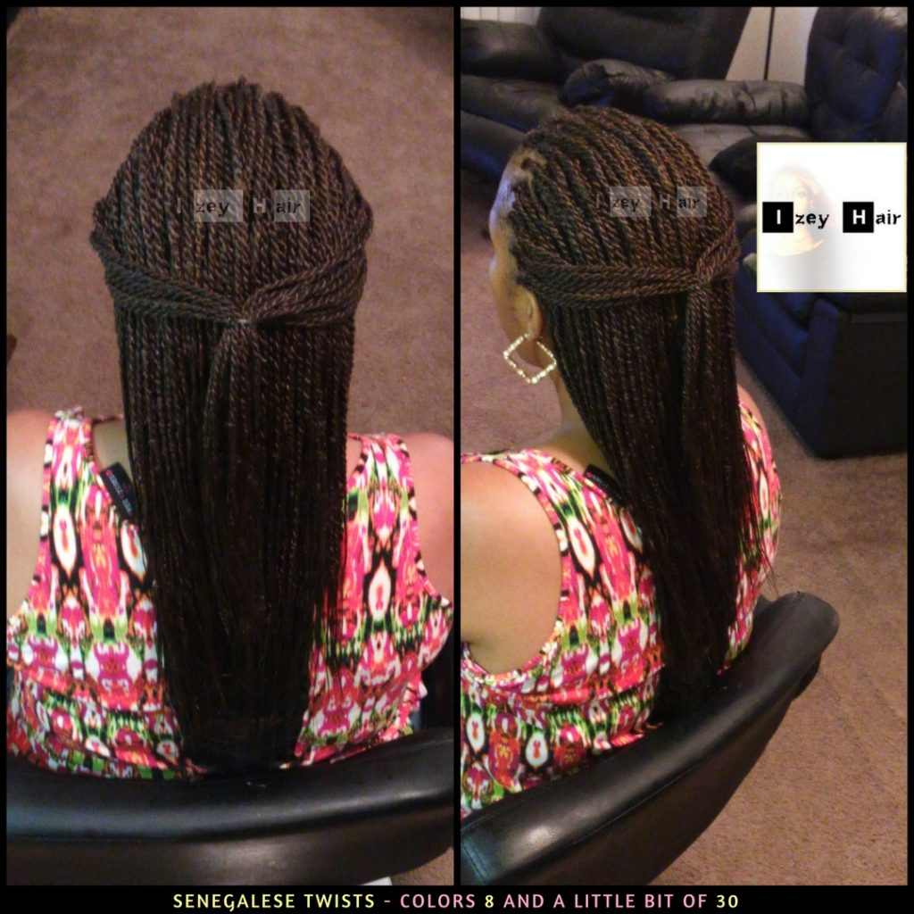 Senegalese Twists - Colors 8 and a little bit of 30 - Izey Hair - Las Vegas, NV