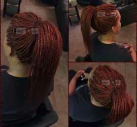 Individual (Box) Braids with Tapered Ends - Color 350 (Copper Red) - Izey Hair - Las Vegas Nevada