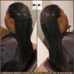 Individual Braids - Colors 30 (Medium Auburn) and 1B (Off-Black) - Izey Hair - Las Vegas, NV