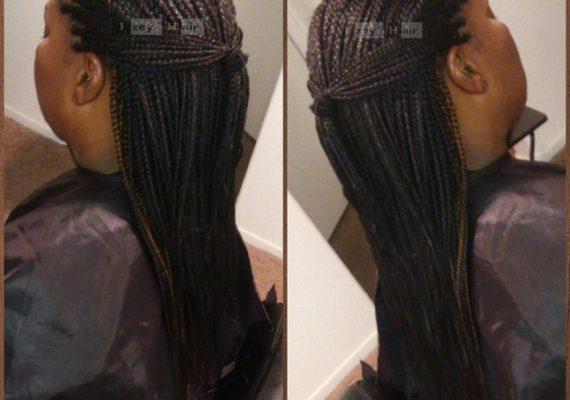 Individual Braids - Colors 30 (Medium Auburn) and 1B (Off-Black) - Izey Hair - Las Vegas, NV
