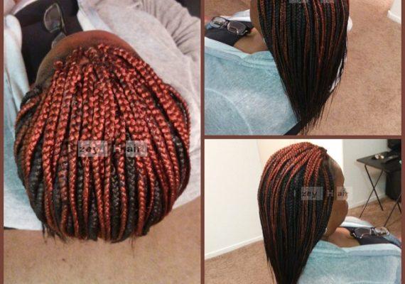 Individual Braids - Colors 350 and 2 - Izey Hair - Las Vegas, NV