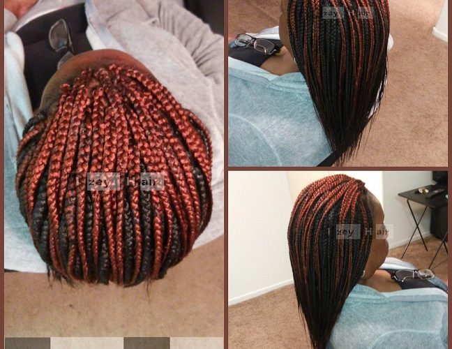 Individual Braids - Colors 350 and 2 - Izey Hair - Las Vegas, NV