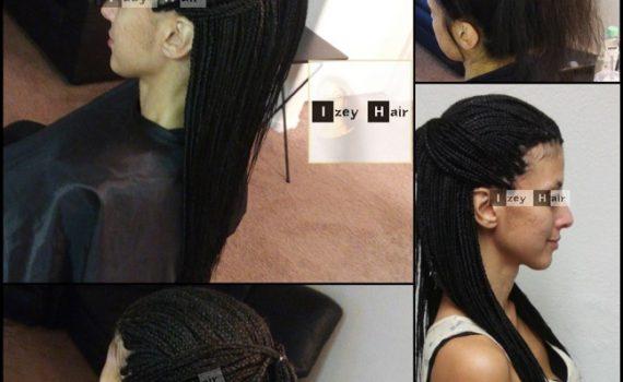 Long and Small Individual Braids - Color 1B (Off-Black) - Izey Hair - Las Vegas Nevada