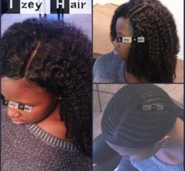 Sew-in Weave - Brazilian Kinky Curls With Lace Closure (Natural Black)