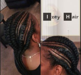 Simple and Convenient Feed-in Braids/Feed-in Cornrows - Color 1B (Off-Black)