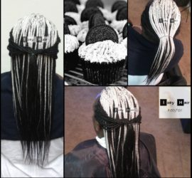 Black Velvet Oreo Cupcakes - Queencakes - Food Inspired Hair Style - Individual Box Braids - Izey Hair - Las Vegas Nevada