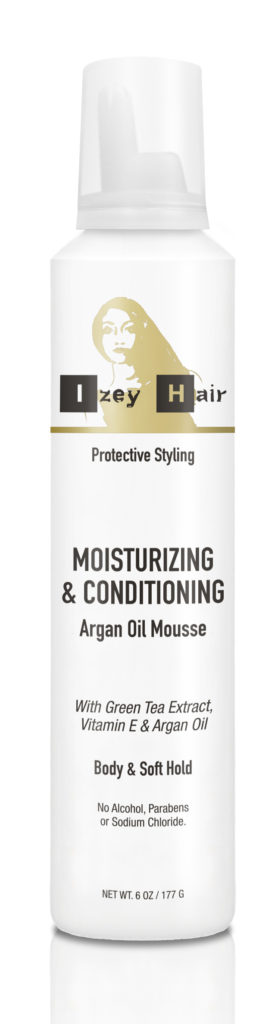 Izey Hair Moisturizing and Conditioning Argan Oil Mousse