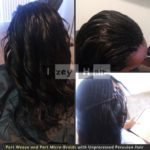 Part Weave and Part Micros with 100% Human Unprocessed (Virgin) Peruvian Hair