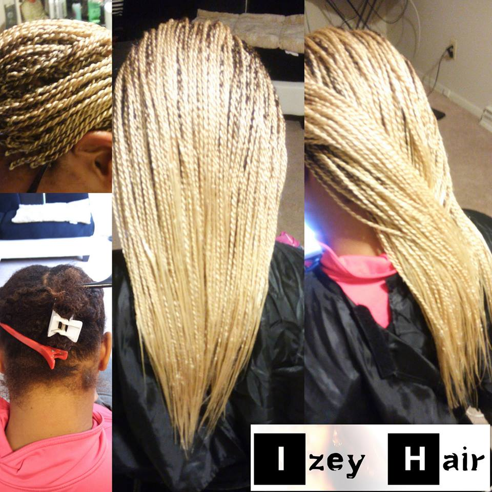 Platinum Blond Senegalese Twist - Small Twist - Micro-Twist -Colors 613- Xpressions Hair - Izey Hair Las Vegas NV