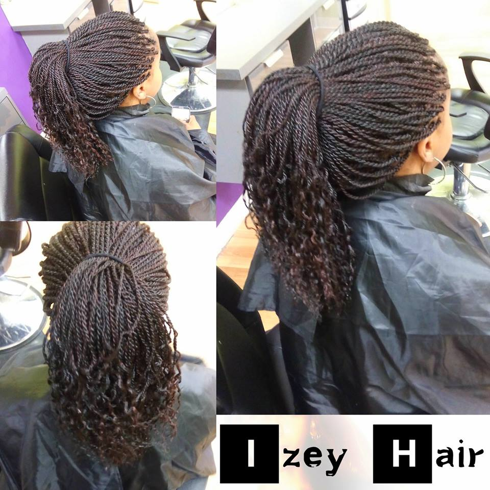 Senegalese Twist with Curled Ends - Xpressions Hair - Izey Hair Las Vegas NV