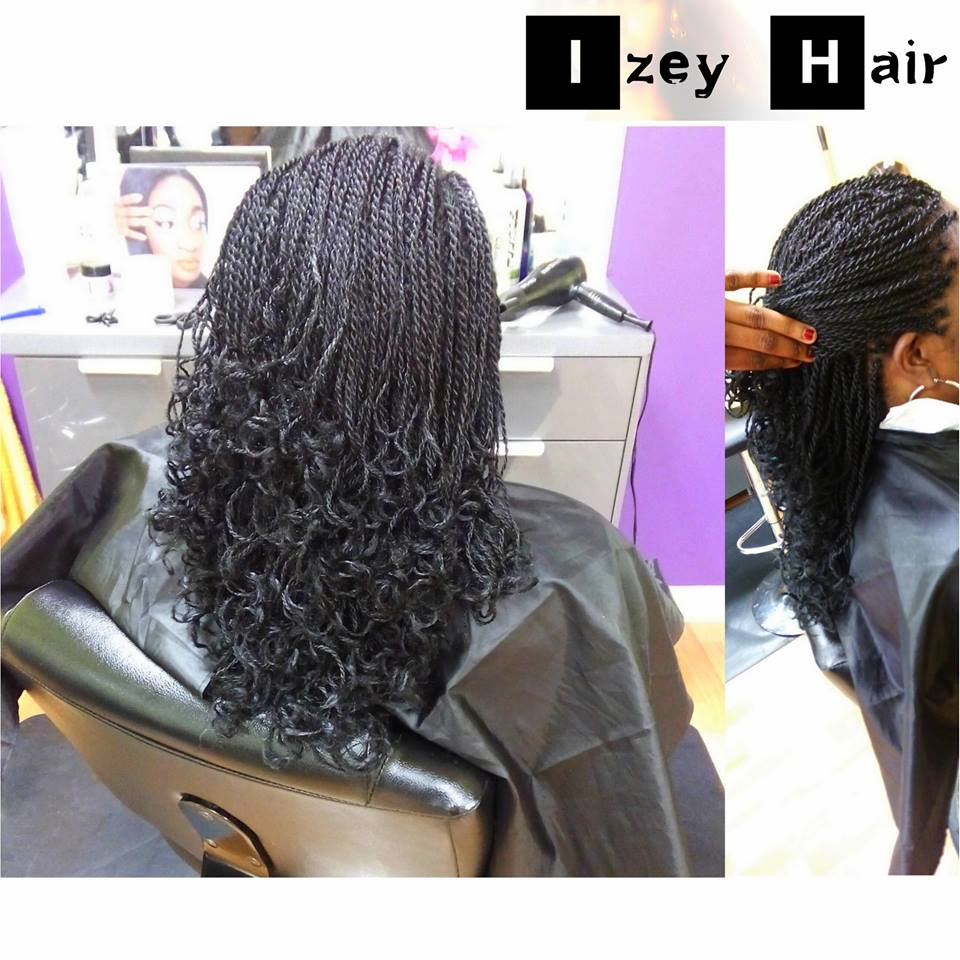 Senegalese Twist with roller-curled ends - Izey Hair Las Vegas NV