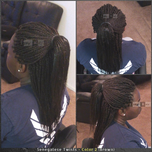 Senegalese Twists - Color 2 (Brown) - Izey Hair - Las Vegas, NV