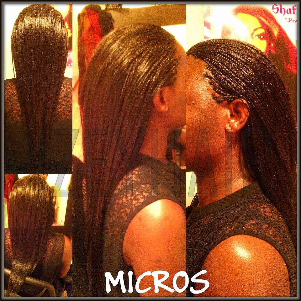 Human Hair Micros - Straight Microbraids