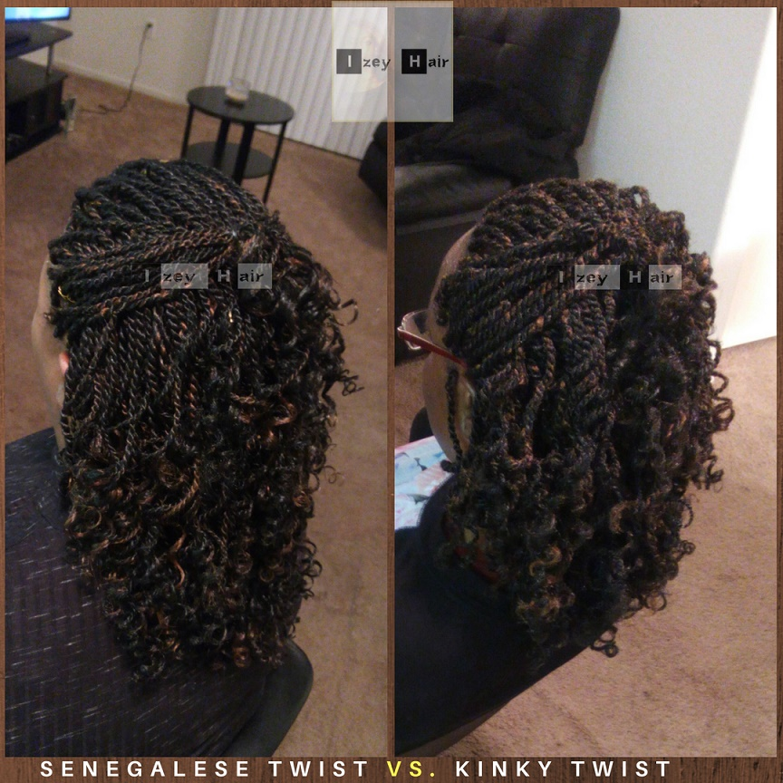 kinky twist vs Senegalese twist