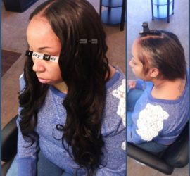 "Sew-in Weave with Unprocessed Virgin Brazilian Body Wave - 20"" 22"" 24"""