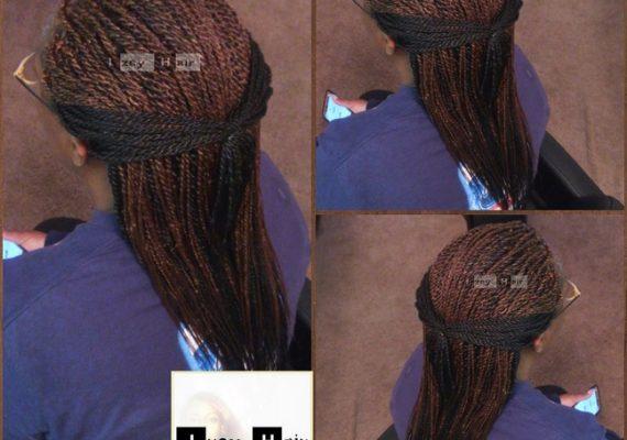 Small Senegalese Twist - Colors 1B & 30 - Izey Hair - Las Vegas, NV