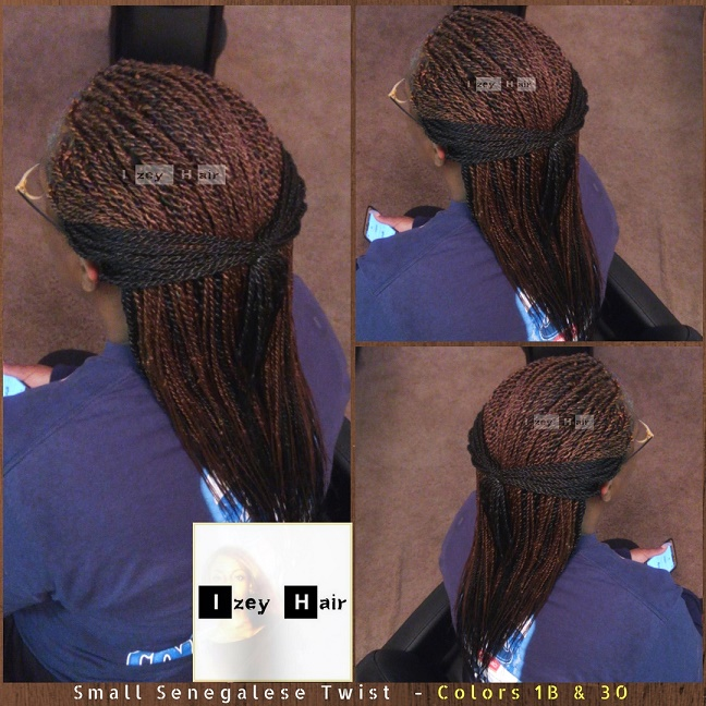 Small Senegalese Twist - Colors 1B & 30 - Izey Hair - Las Vegas, NV