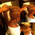 Under Cut Box Braids -Blond - Izey Hair Las Vegas Nevada