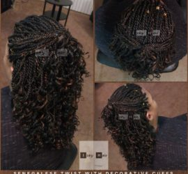 Senegalese Twist with Decorative Cuffs Colors 1B and 30 - Izey Hair - Las Vegas, NV