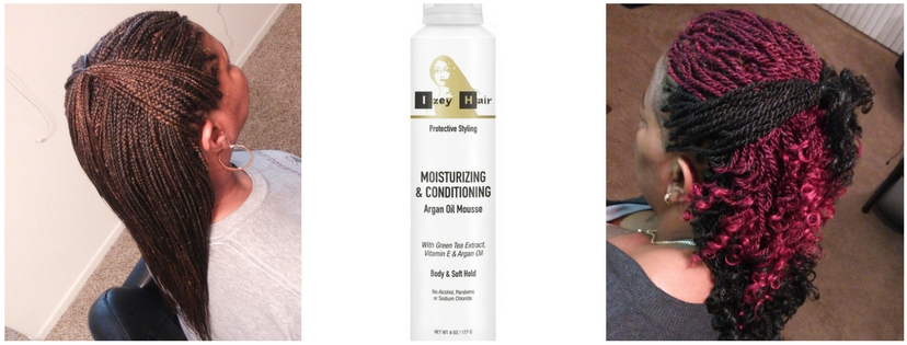 IzeyHair Moisturizing and Conditioning Argan Oil Mousse For Braids and Natural Hair
