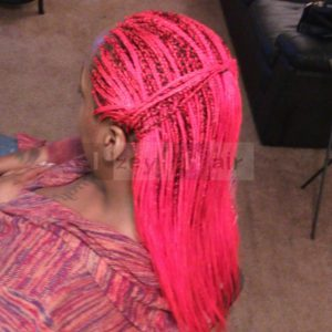 Protective Styling Photos, red braids, Izey Hair Las Vegas