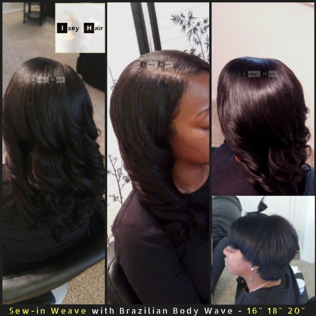 Natural Looking Sew-in Weave with Brazilian Body Wave - 16 inches 18 inches 20 inches - Izey Hair - Las Vegas, NV