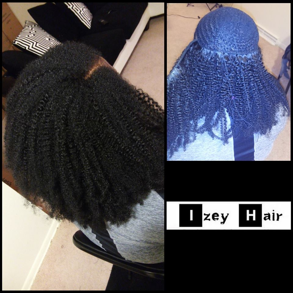 Natural Looking Sew-in Weave with Brazilian Kinky Curls