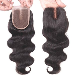 Unprocessed Human Hair Lace Closure Bleached Knots with Baby Hair