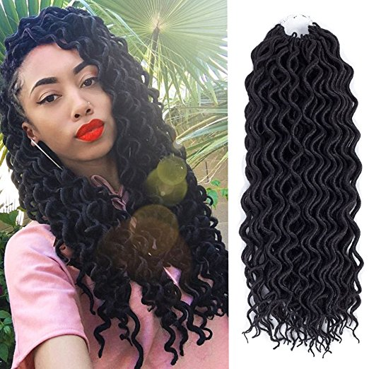 18inch Curly Faux Locs Crochet Braiding Hair with Great Reviews